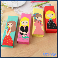 2016 korean most popular new creative kids stationery promotional eco-friendly pencil case for girl
