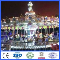 Amusement park ride 24 seats carousel for kiddie