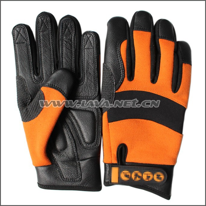 Goatskin Leather Fire Protective Gloves/anti Vibration Gloves For ...