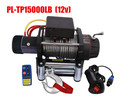 15000lb electric auto winch with wire rope pulling winch for tractor truck rescue