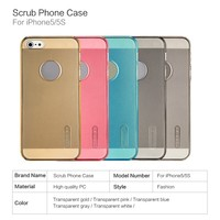 Made in china smart phone accessories scrub pc mobile phone case for iphone 5 5s