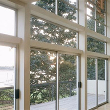 manual open aluminum shutter window with roller up /rolling windows