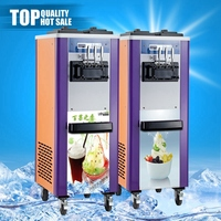 Newly style wholesale sale double cooling system ice cream machine cone