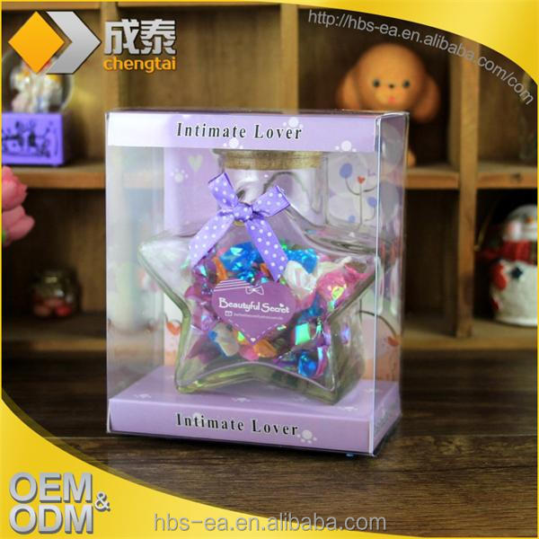 Wishing bottle transparent display box lucky bottle of gift packaging box