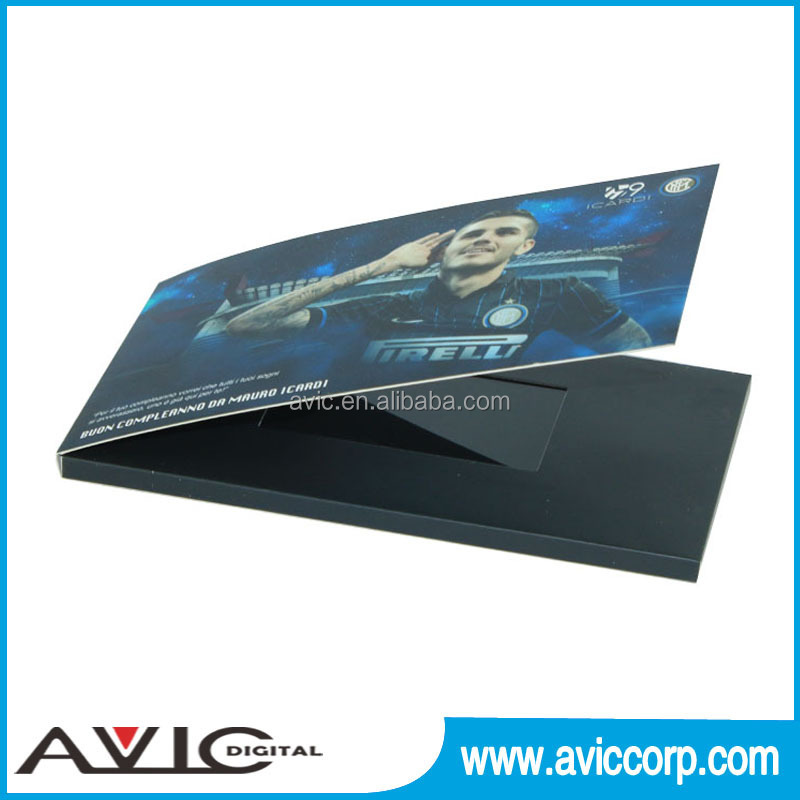 Factory direct sale 2.4 inch to 10.1 inch Custom Full Color Advertising Business LCD screen video brochure