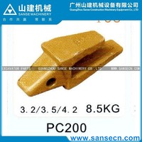 PC200 8.5KG excavator bucket teeth seat,adaptor