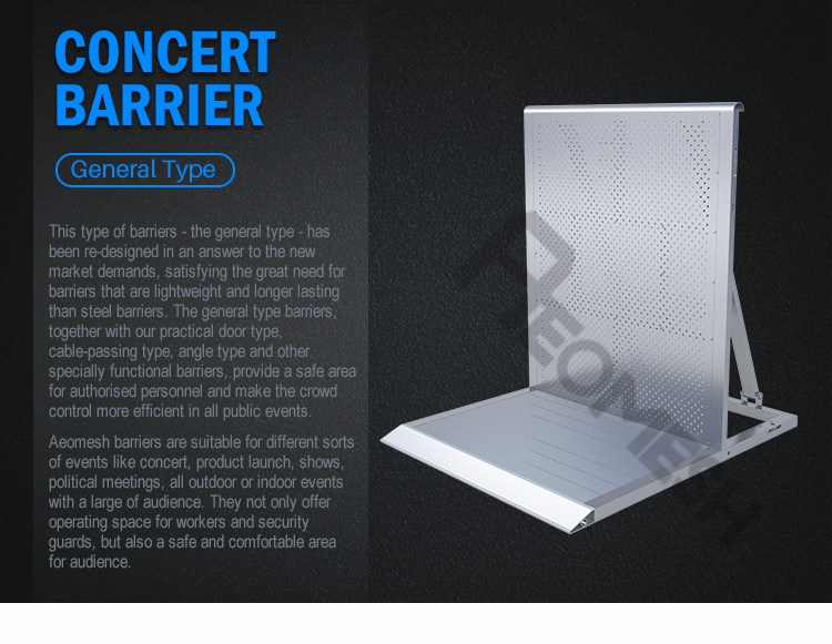 Concert Barrier Accessories