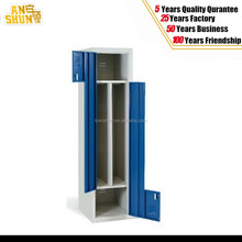 new product Z shape door metal storage locker/ powder coated finish steel colthes storage locker
