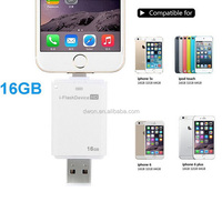 OTG flash drive 32GB,128GB,64GB,16GB Capacity and USB 2.0 Interface Type 32GB Flash Drive Memory Stick iflash drive for iphone