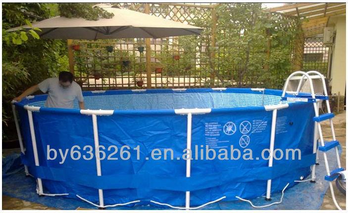 Tama o de la familia marco met lico redondo de pl stico - Tamanos de piscinas ...