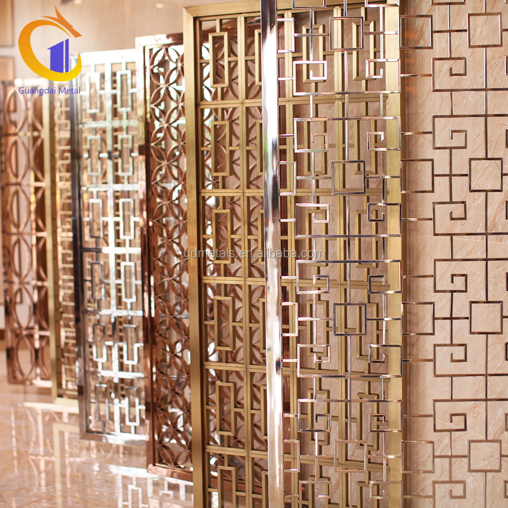 Wholesale Room Divier Panel Stainless Steel Privacy Small Decorative Laser Cut Metal Screens