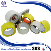 Alibaba Hot Strong Adhesive Bopp Carton Sealing Products Yellowish/Clear Colored Packaged Tape