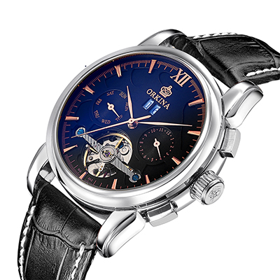 Top Brand Mens Mechanical Watches Skeleton Automatic Man Watch
