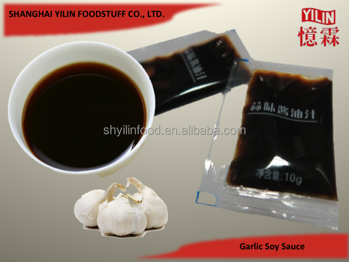 10g sachet OEM ODM Garlic Flavor Soy Sauce from China