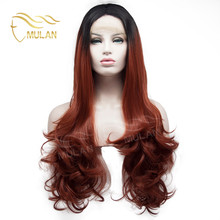 In stock from Qingdao Mulan ombre lace front wig synthetic hair wig
