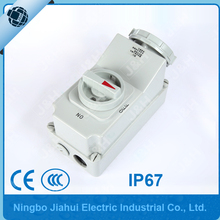 Jiahui IP67 CEE/IEC 32A 3poles european industry socket with switches and mechanical interlock waterproof socket