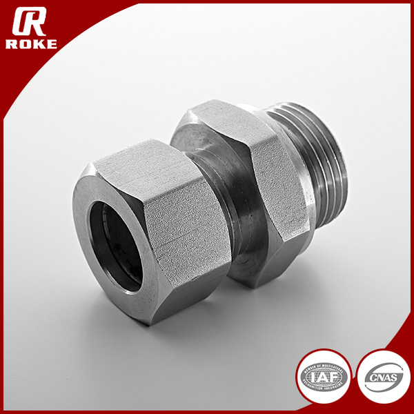 DIN2353/ISO8434 stainless steel male threaded stud coupling with O-ring