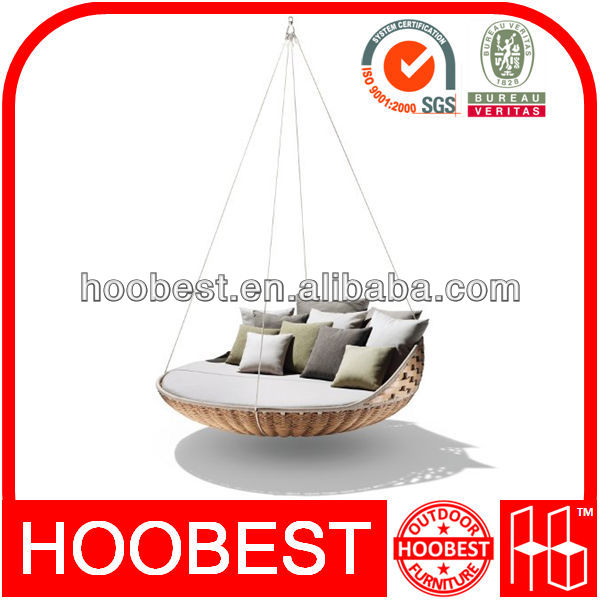Outdoor hanging bed, Factory Manufacturer Direct Wholesale, Extra large nest rest rattan wicker resort hanging swing lounge bed