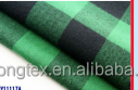 100%cotton yarn dyed flannel shirt fabric