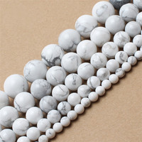 Natural Stone Beads White Howlite Truquoises Round Loose Beads For Jewelry Making