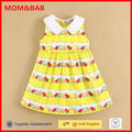 China Baby Clothes Factory Supply Baby Girls Dresses Woven Design Sleeveless