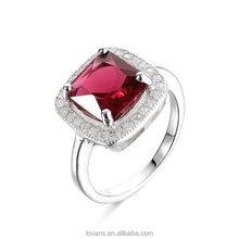 Ruby Ring Silver Stone Jewelry Gemstones In China Jewelry Making SRG398W