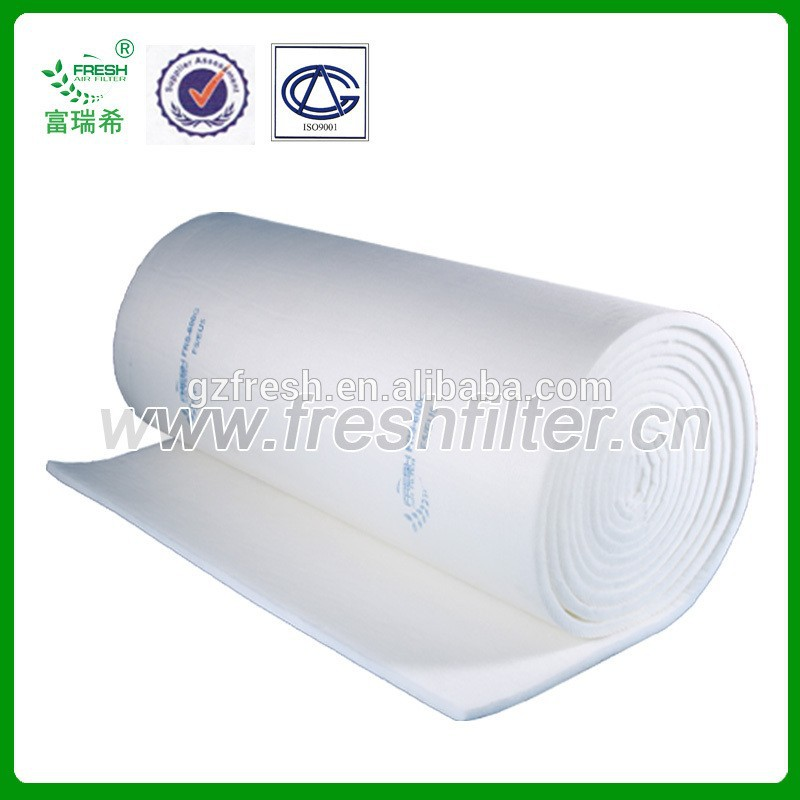 FRS-600G/W Synthetic fiber F5/EU5 air prefilter material for auto spray booth(Manufacturer)