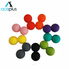 Double Peanut Gym Silicone Massage Exercise Ball
