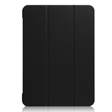 Factory Price Solid Color Three-Folded PU Flip Cover for iPad Pro 10.5, for iPad Pro 10.5 Leather Case