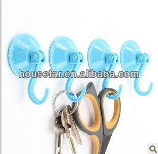 plastic strong suction cup hooks with lock