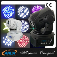 High quality DJ club 30w led mini moving head spot light/dmx lighting for party wedding