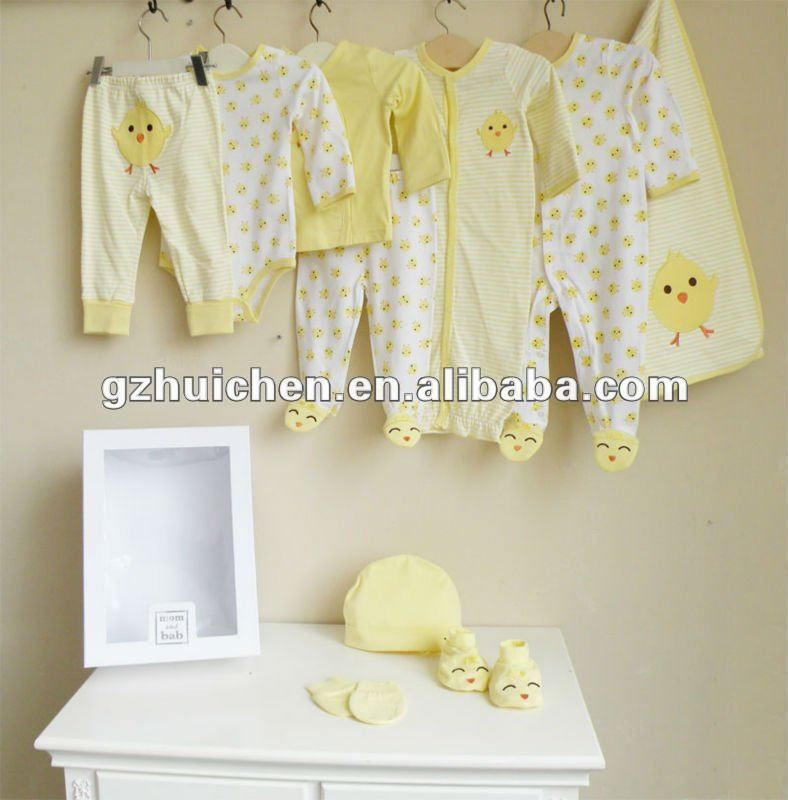 mom and bab 2012 Autumn baby clothes newborn gift set 10pcs