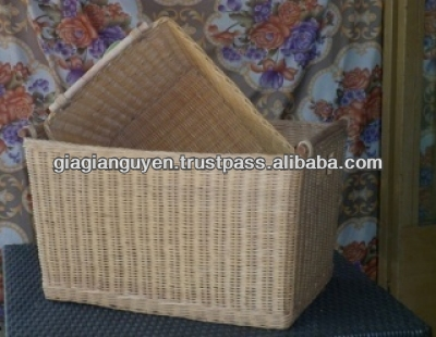 CHEAP VIETNAM NATURAL RATTAN BASKET WITH HIGH QUALITY - GGNC