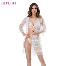 New Design High Quality Long Lace Dress Briefs Beautifull Girls Hot Ladies Sexy Fancy Bra Panty Sets