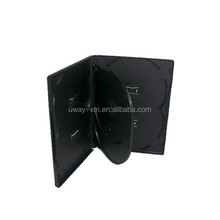 14mm 6 disc dvd case /14mm black dvd box for 6 discs