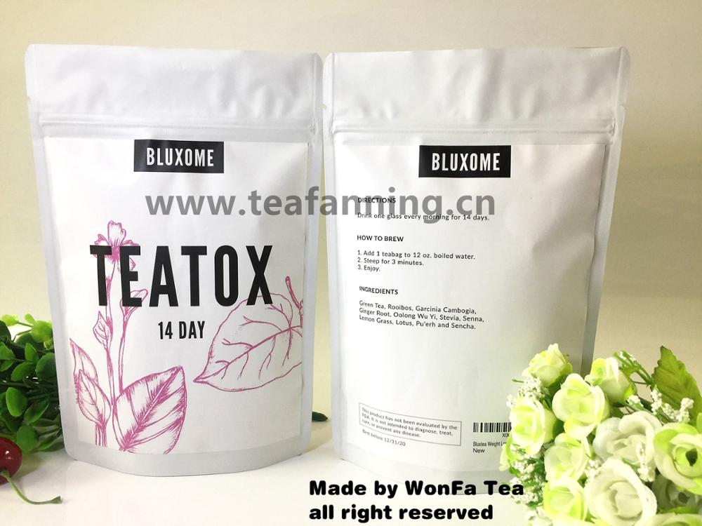 Organic Fit Detox tea with customized label service