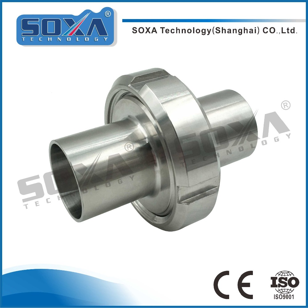 sanitary stainless steel 304/316L long type welded union with factory price