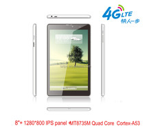 "8"" protable quad core MTK8735M 1.3GHZ tablet pc palmtop 1+8GB IPS1280*800 pixel with 3G phone call in stock"