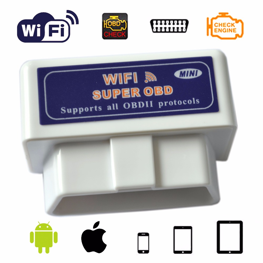 Customize Mini OBD Elm327 WiFi OBD2 Auto Diagnostic Scanner cardiagnostic tool elm327 obd2