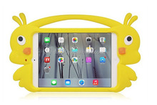 Hot sale yellow duck silicone tablet case for iPad mini 1/2/3,case for iPad,child friendly case with one handle