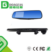 auto dimming rearview reverse mirror dvr 4.3 inch 1080p car video camera dual lens car dvr recorder
