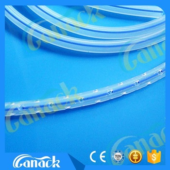 Medical Silicone Round Perforated Drainage Tube with radio opaque line 16fr manufacturers