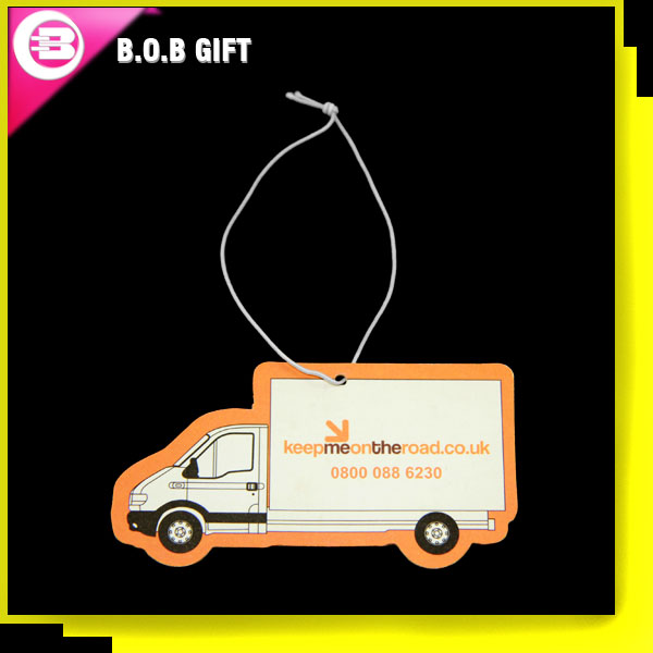 Truck shape paper car air fresheners for giveaway