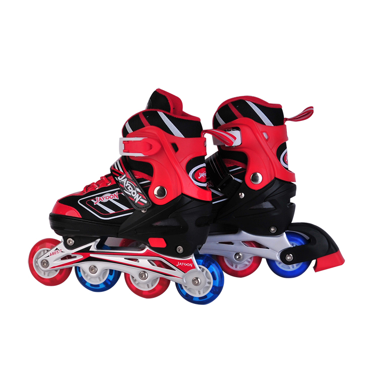 Flashing kids roller skate shoes with led lights
