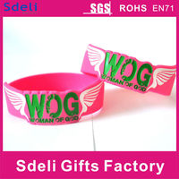 watch shap beautiful charity 1 inch silicone wristband/silicone rubber bracelet