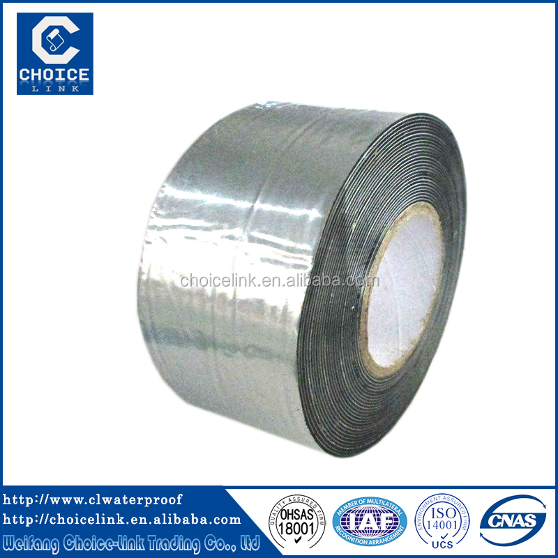 self adhesive asphalt/ bitumen waterproofing sealing tape, aluminium flashing roofing