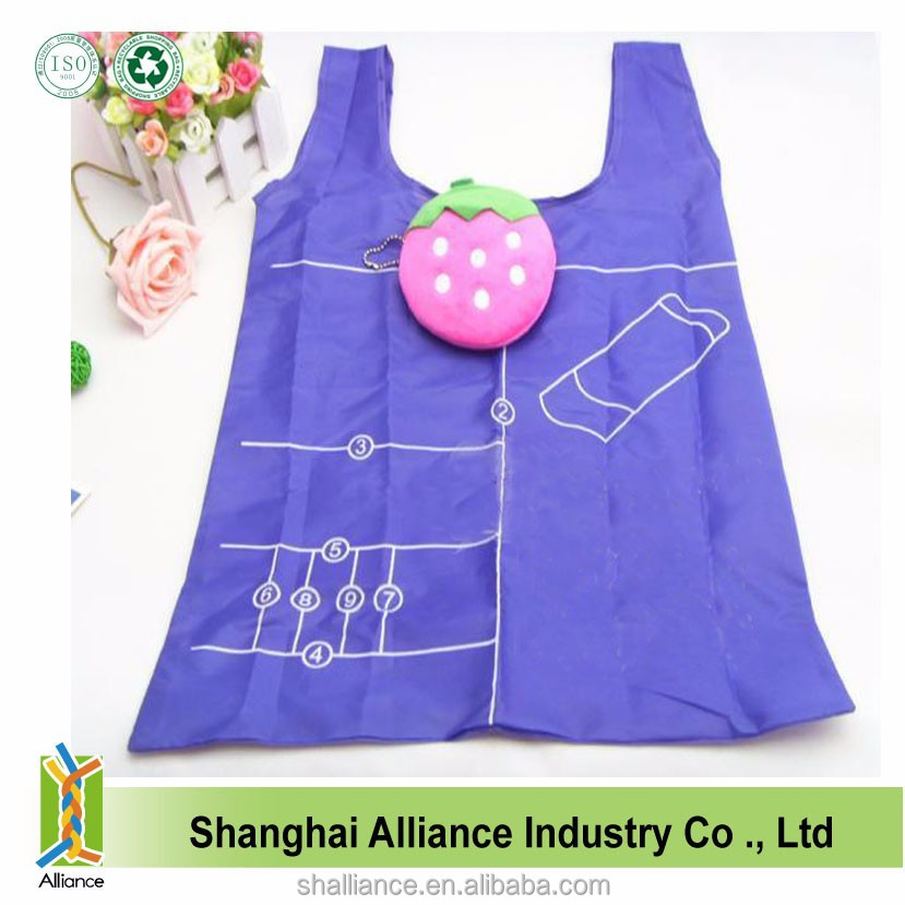 Ice Cream Shape Polyester Promotional Tote Shopping Foldable Bag