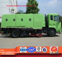Dongfeng tianjin road sweeper truck , street cleaning vehicle for sale