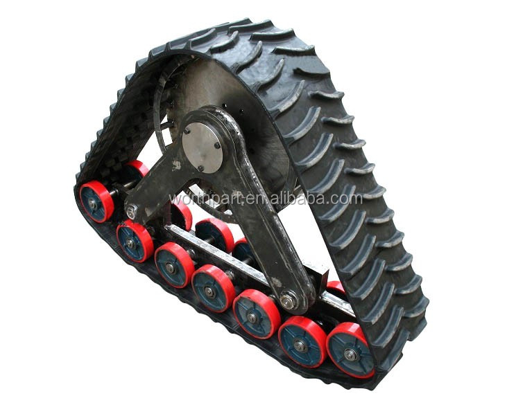 SUV pickup truck rubber track conversion system kit