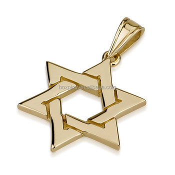 Newly cheap custom gold jewish star necklace wholesale